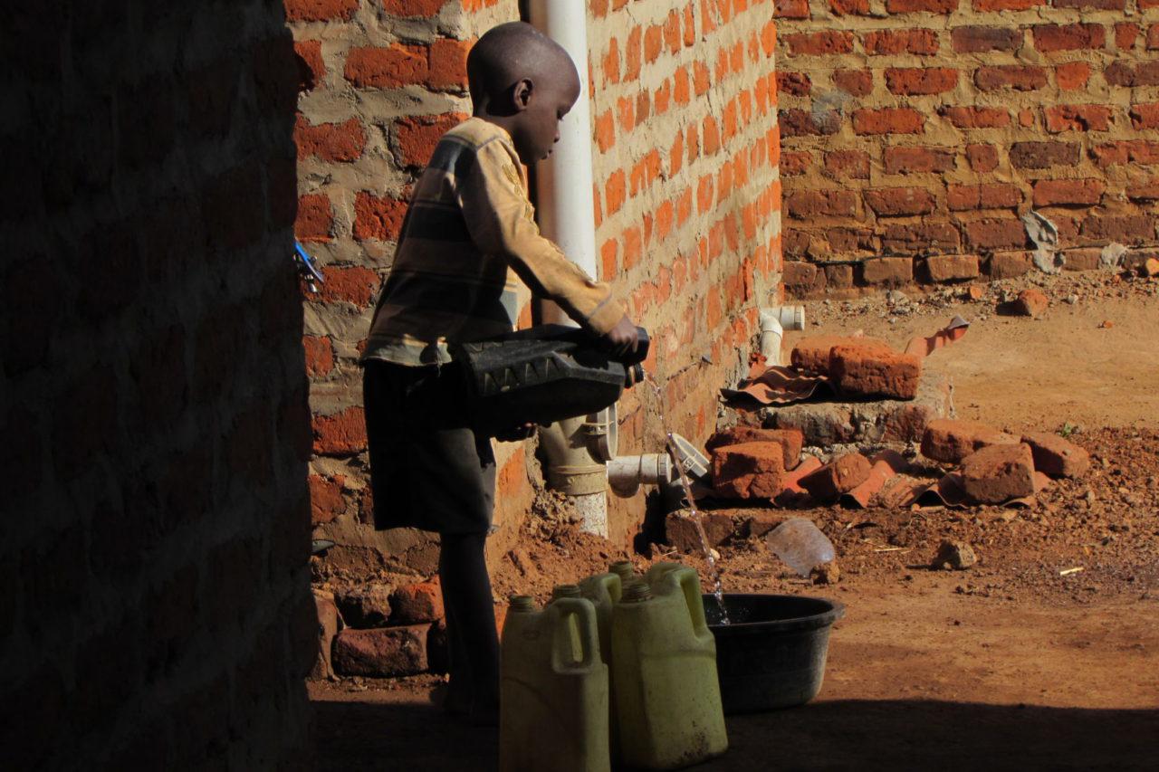 Koupelna v Ugandě